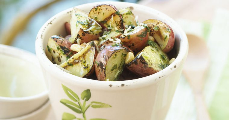 Summer grilling meets healthy potato salad