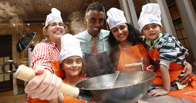 New York Restaurateur and Chef Gets Kids Cooking